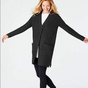 J. Jill Easy Knit Cardi in Black
